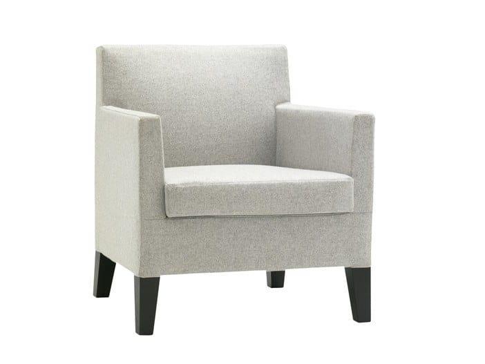 Fabric armchair ANNA LOUNGE BU1397 | Fabric armchair by Andreu World