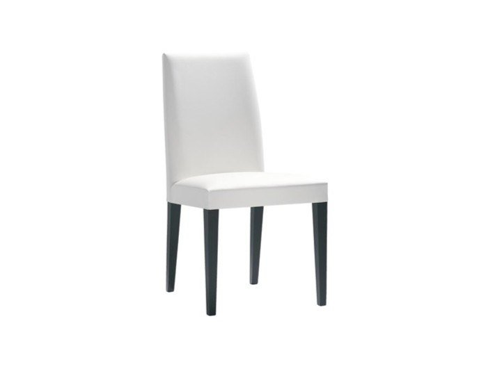 Upholstered stackable fabric chair ANNA SI1370 by Andreu World