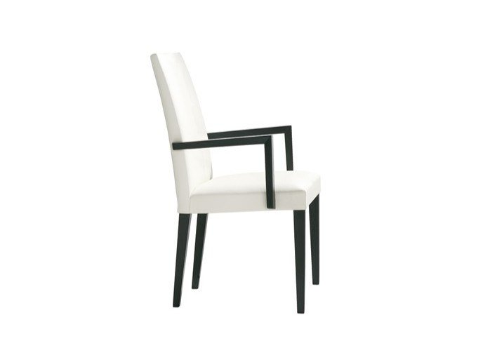 Upholstered fabric chair with armrests ANNA SO1369 by Andreu World