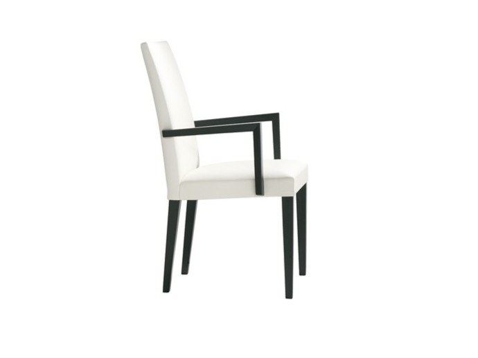 Upholstered fabric chair with armrests ANNA SO1373 by Andreu World