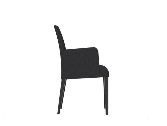 Upholstered fabric chair with armrests ANNA SO1384 by Andreu World