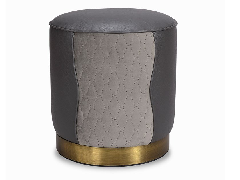 Low upholstered stool ANNE by Duquesa & Malvada