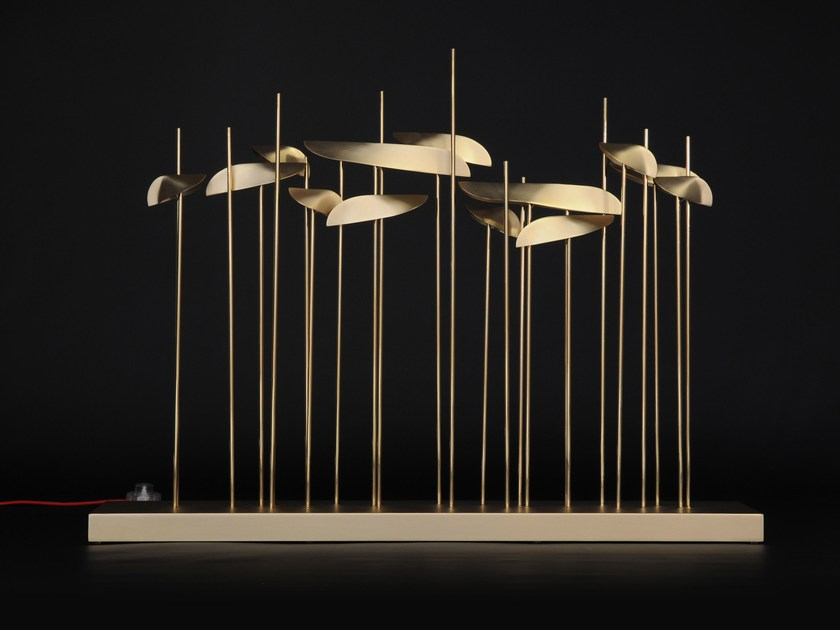 LED brass table lamp ANODINE   Table lamp by Paolo Castelli