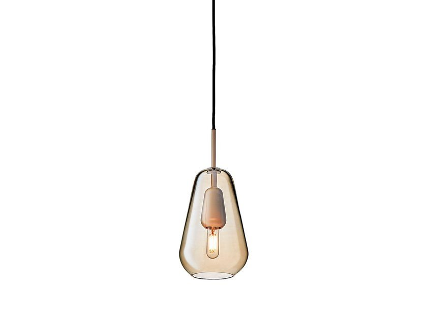Blown glass pendant lamp ANOLI 1 SMALL by Nuura