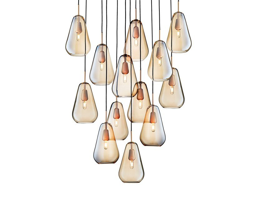 Blown glass pendant lamp ANOLI 13 by Nuura