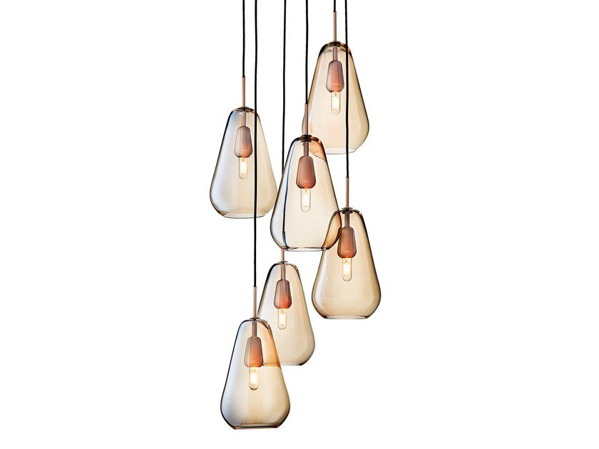 Blown glass pendant lamp ANOLI 6 by Nuura