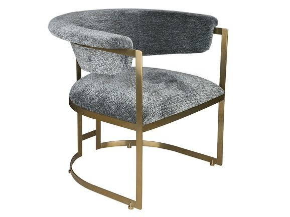 Upholstered fabric easy chair with armrests ANOUKA by Hamilton Conte Paris