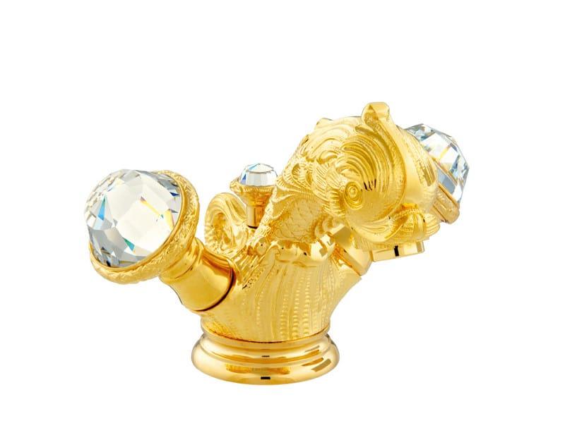 1 hole washbasin tap with Swarovski® crystals ANTARTICA   1 hole washbasin tap by Bronces Mestre