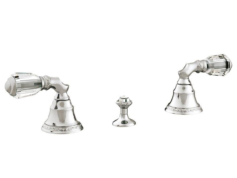 3 hole bidet tap with Swarovski® crystals ANTARTICA | 3 hole bidet tap by Bronces Mestre