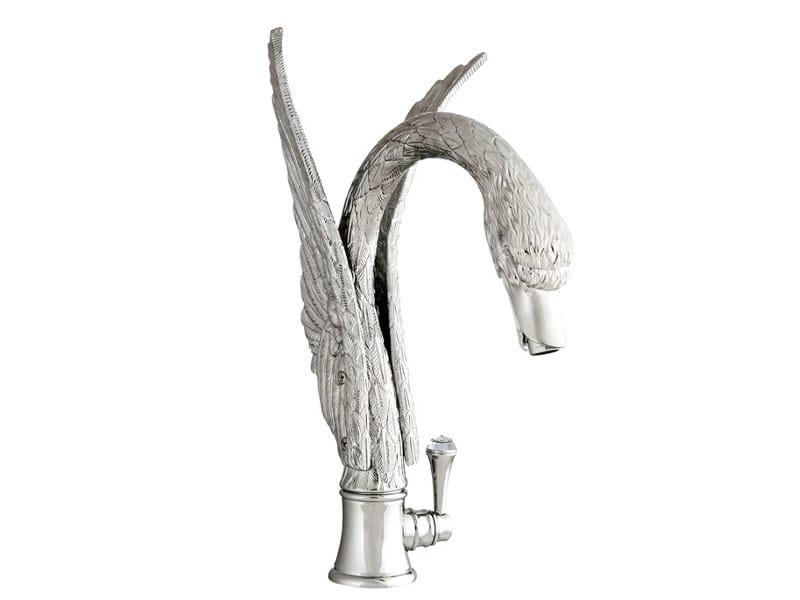 ANTARTICA SWAN | Miscelatore per lavabo con cristalli Swarovski®