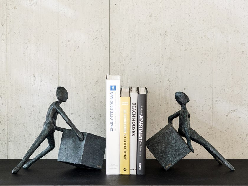 Bronze bookend ANTE & RETRO CYBUS by Gardeco