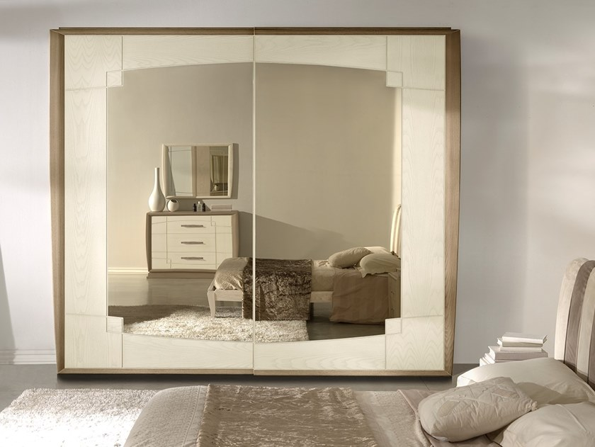 Mirrored wardrobe with sliding doors ANTHEA | Wardrobe by MOLETTA