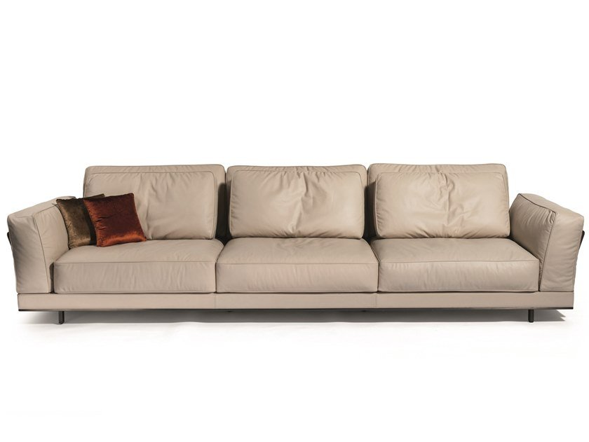 3 seater leather sofa ANTHEM | 3 seater sofa by Visionnaire