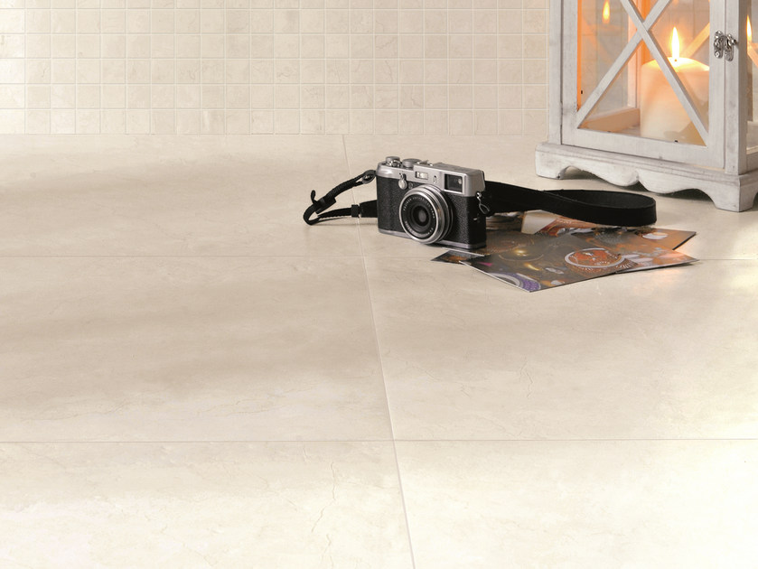 Porcelain Stoneware Wall Floor Tiles With Marble Effect Anthology Luxury White By Emilceramica