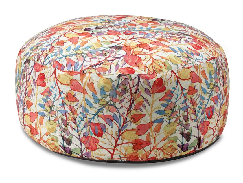 Pouf in tela stampata, motivo ramage floreale ANTIBES   Pouf by MissoniHome