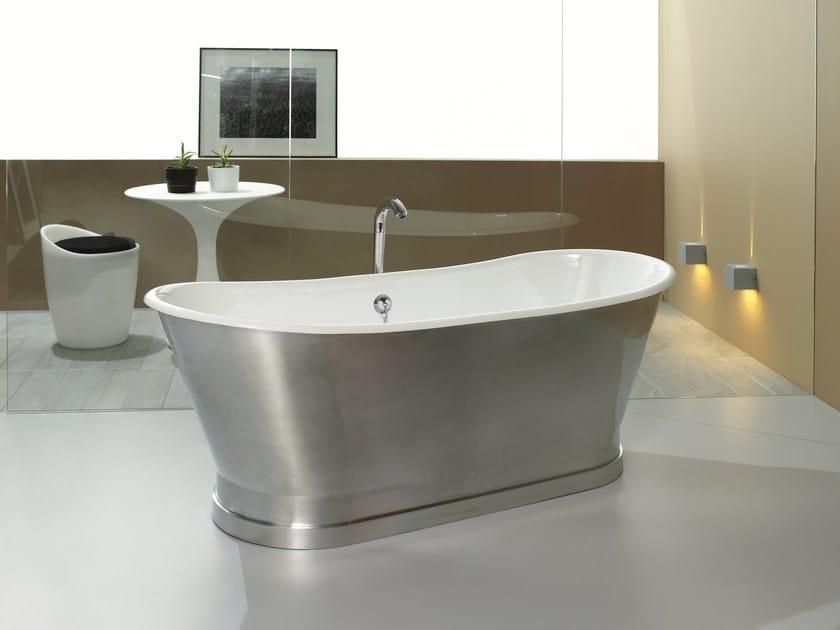Freestanding aluminium bathtub ANTICA ALUMINIUM Bathtubs on base ...