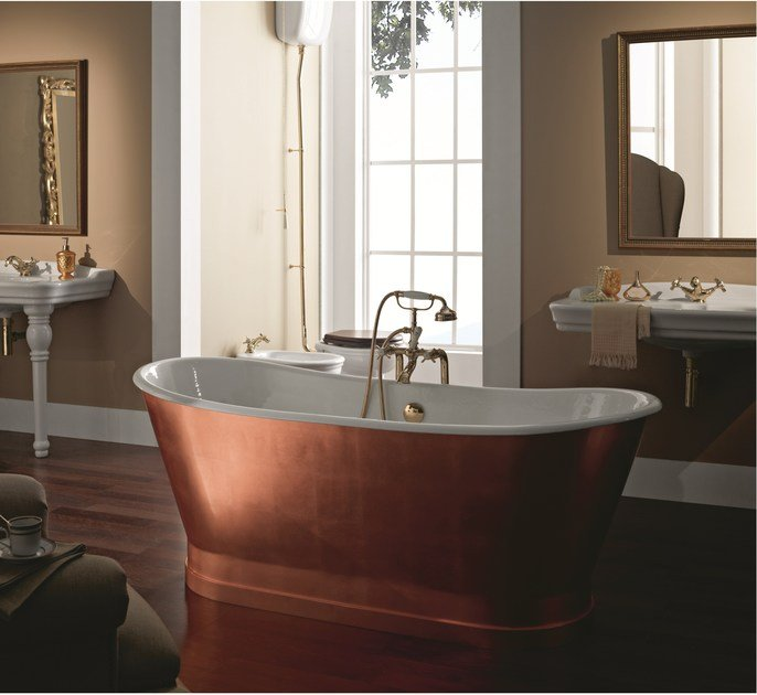 Freestanding copper bathtub ANTICA COPPER by BLEU PROVENCE