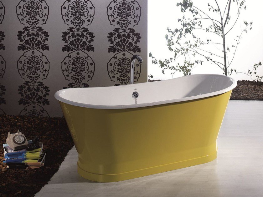 Vasca da bagno centro stanza in ghisa ANTICA COLOR - BLEU PROVENCE