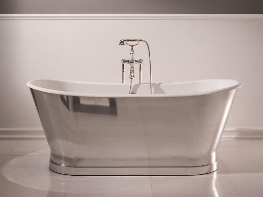 Vasca da bagno centro stanza in acciaio ANTICA STEEL Collezione ...