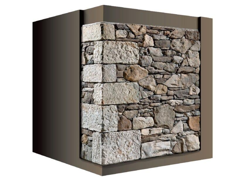 Rivestimento di facciata in pietra artificiale ANTICO CANTONALE 43 by GEOPIETRA®