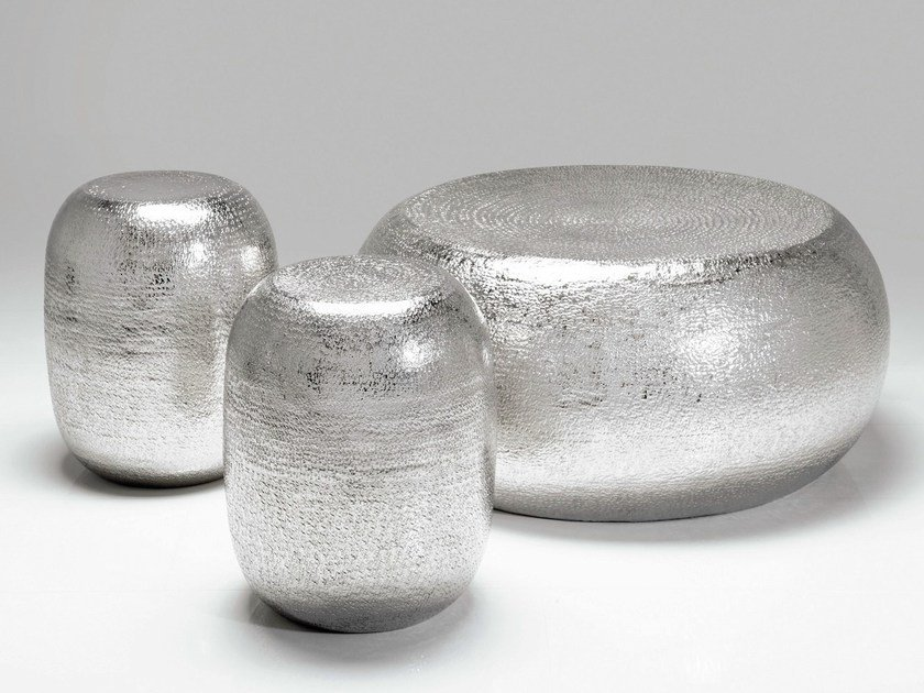 Aluminium stool / coffee table ANTICO by KARE-DESIGN