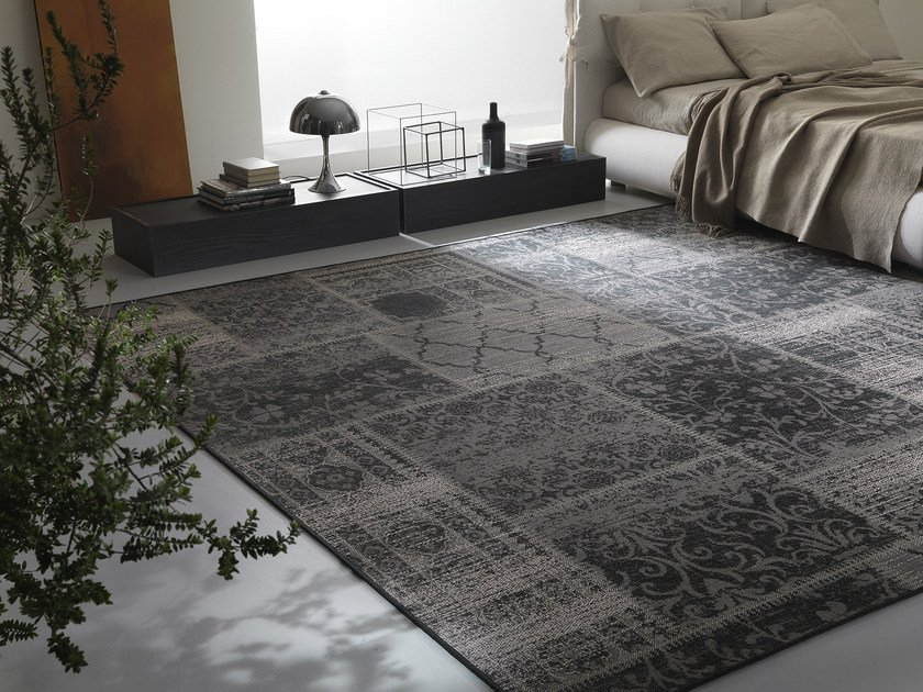 Patterned rectangular fabric rug ANTIK by Besana Moquette