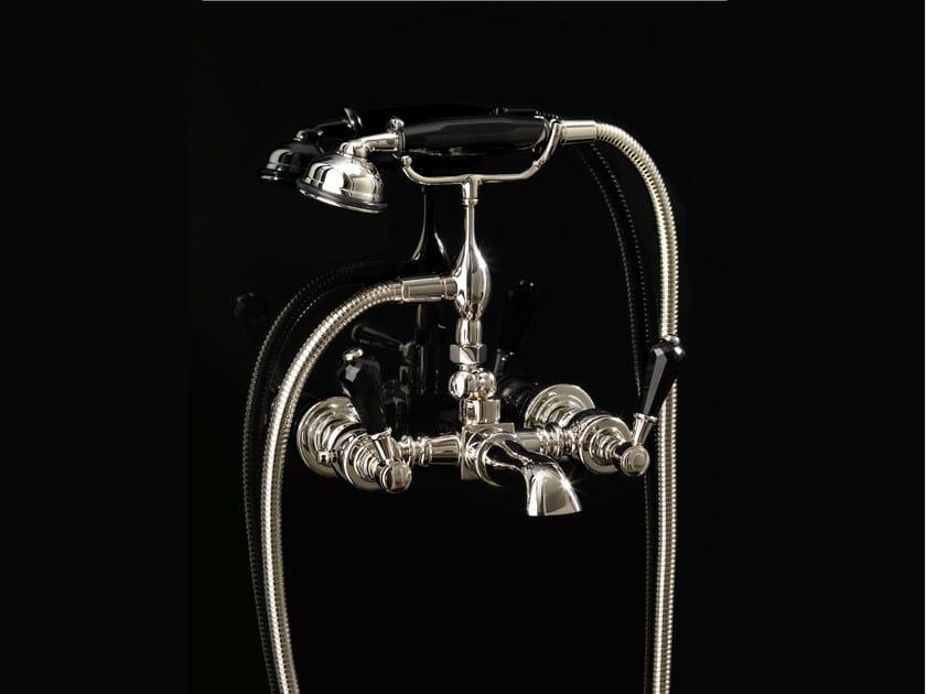 Wall-mounted bathtub tap with hand shower ANTIQUE PRECIOUS LEVER | Wall-mounted bathtub tap by Devon&Devon