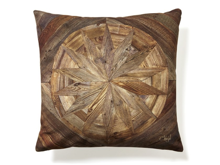 Square cushion ANTIQUE WOODEN ROSE by Koziel
