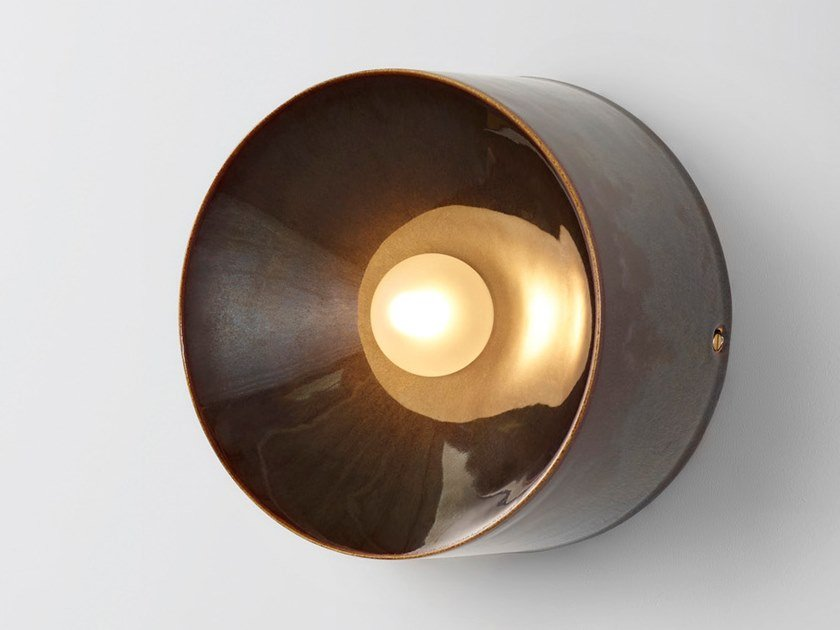 Ceramic sconce ANTON CERAMIC BROWN by Volker Haug Studio