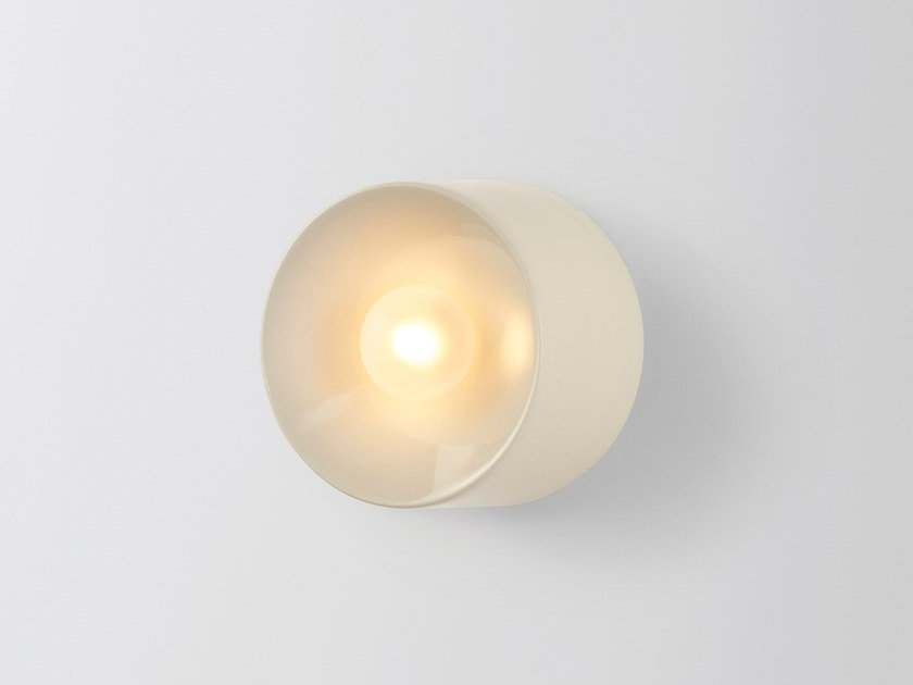 Ceramic wall light ANTON MINI CERAMIC WHITE by Volker Haug Studio
