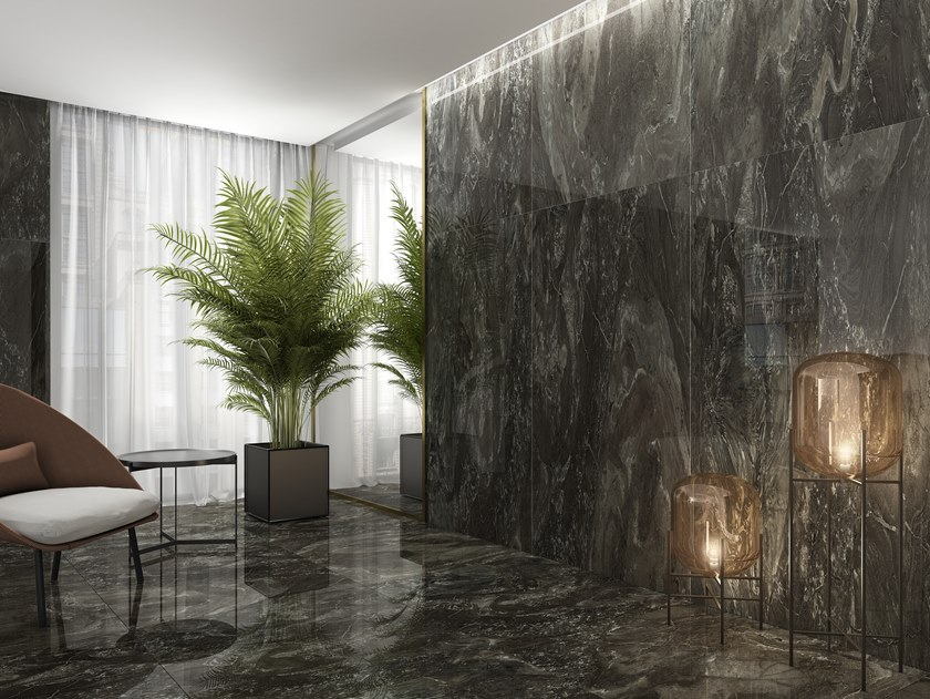 Indoor wall tiles with marble effect ANTRIM by Museum