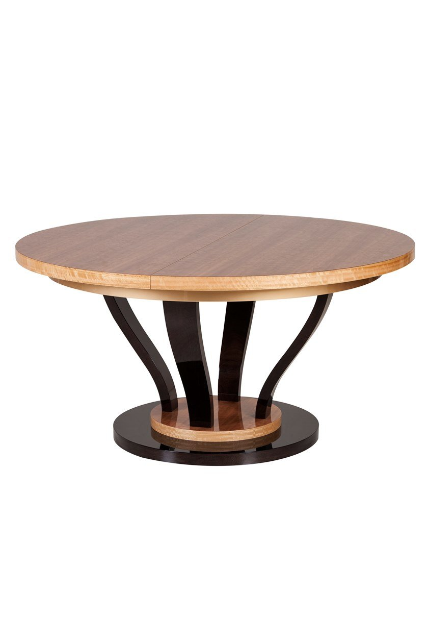 Extending round wooden dining table ANTUÉRPIA by Green Apple