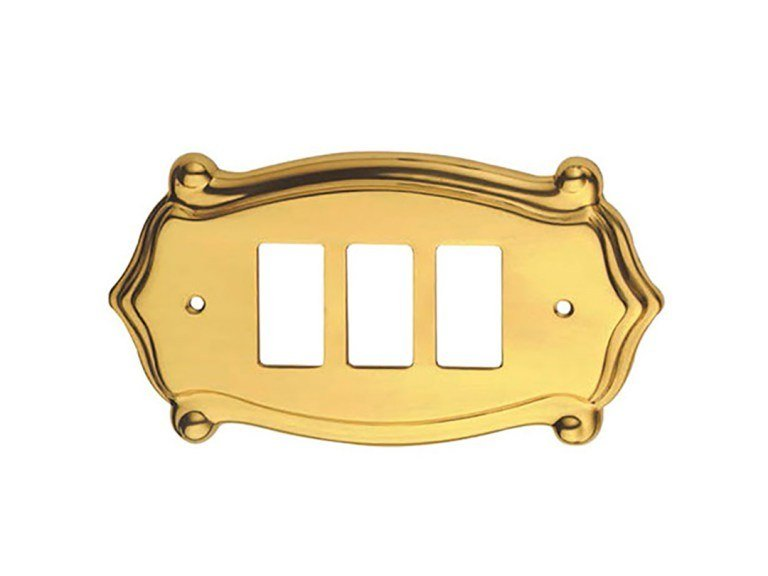Brass wall plate ANUBI CLASSIQUE | Wall plate by Pasini