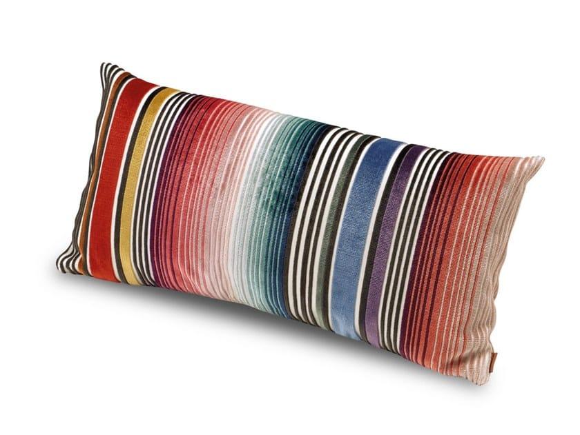 Cuscino in velluto di viscosa a patchwork di righe ANVERSA | Cuscino by MissoniHome