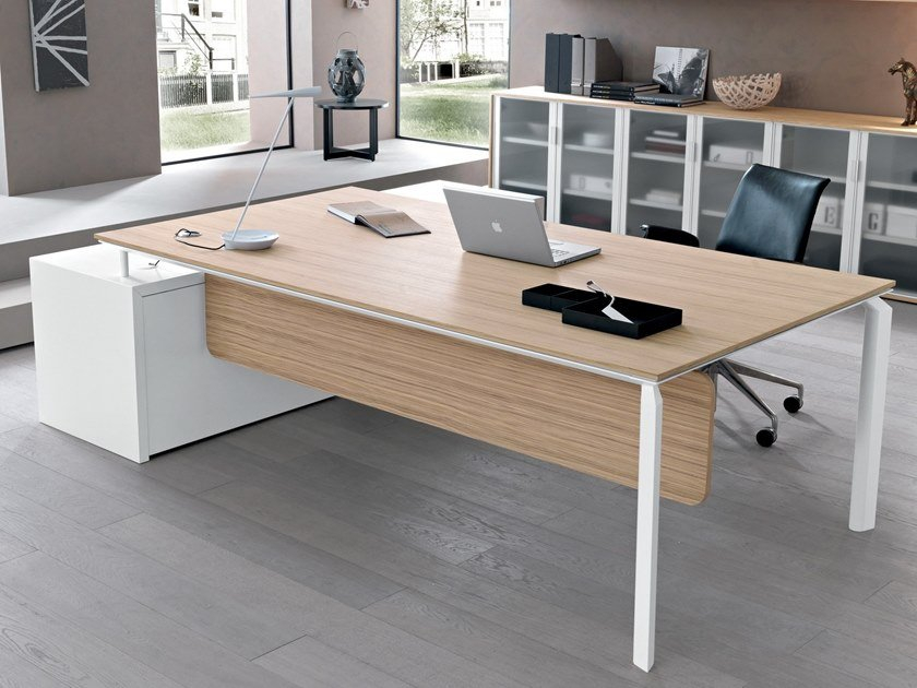 Rectangular wooden office desk ANYWARE | Office desk by Martex