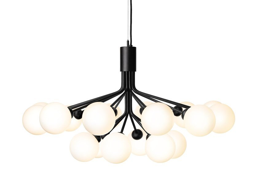 Glass pendant lamp APIALES 18 SATIN BLACK by Nuura