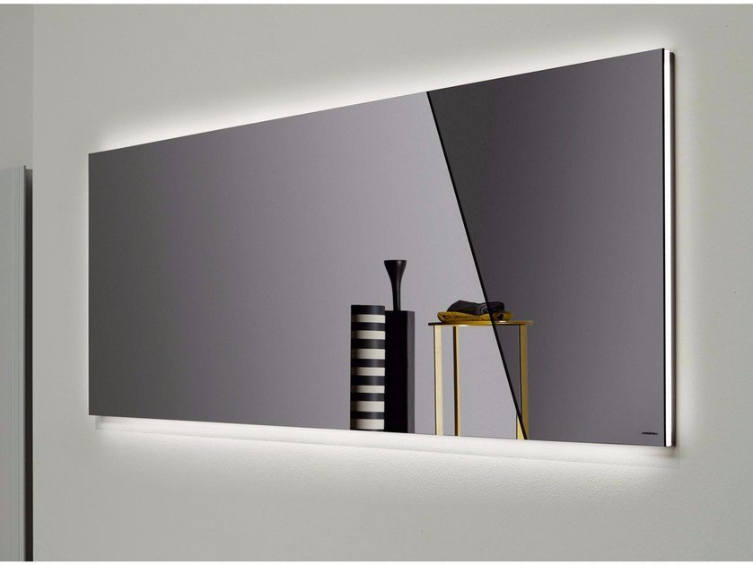 Wall-mounted bathroom mirror with integrated lighting APICE by Antonio Lupi Design