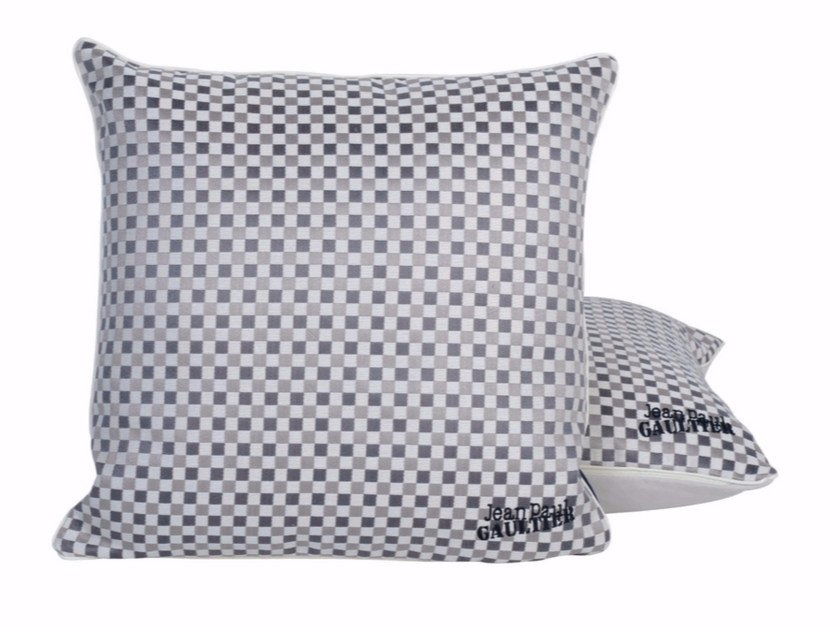 Square cotton sofa cushion APOGEE by LELIEVRE