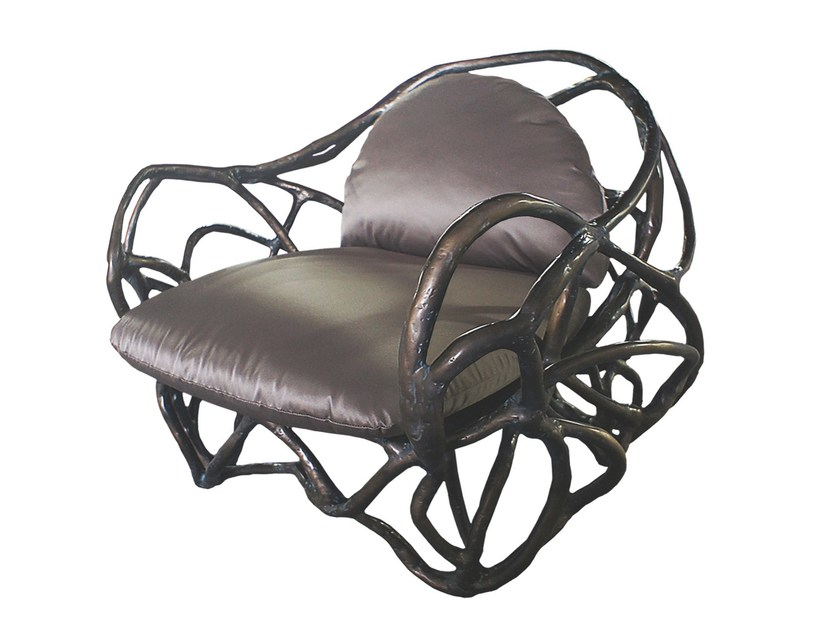 Fiberglass easy chair with armrests APOLLO K1043 by KARPA