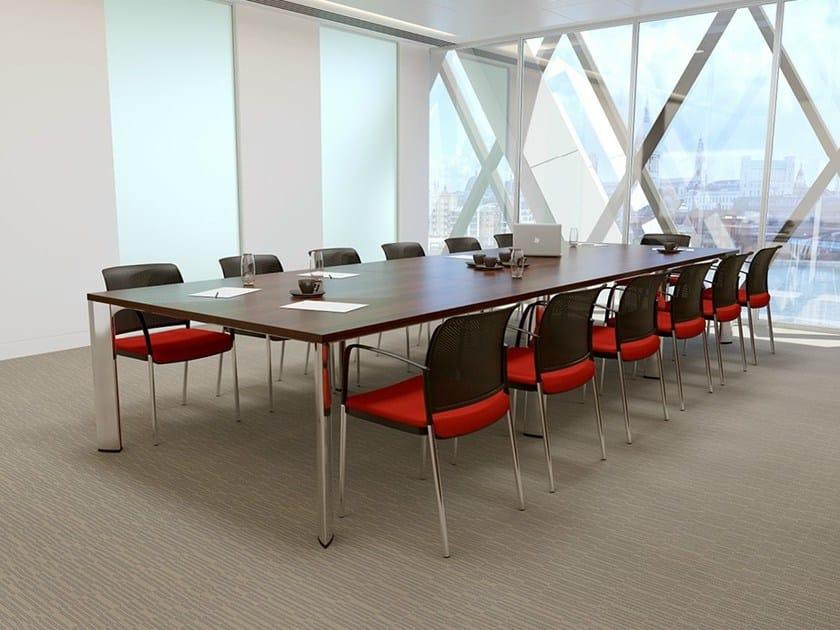 Rectangular melamine meeting table APOLLO | Melamine meeting table by Boss Design