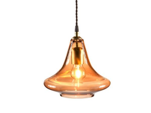 Glass pendant lamp APPIA by Hamilton Conte Paris