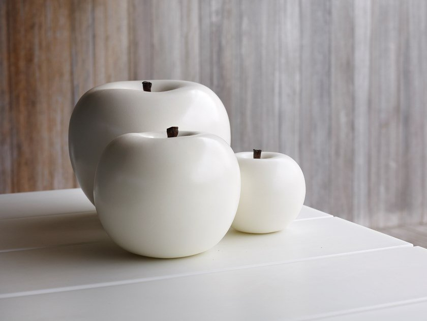 Ceramic sculpture APPLE by Gardeco