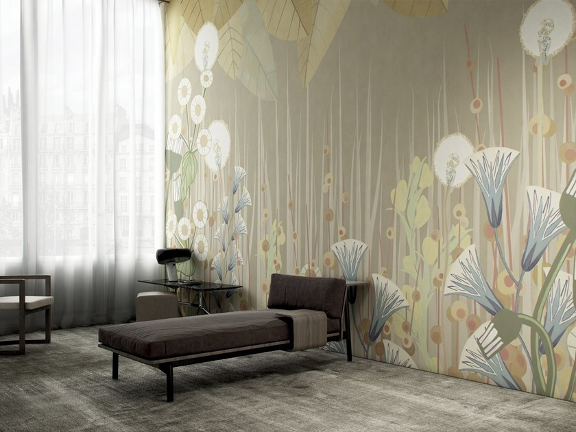 Wallpaper with floral pattern APRILE by GLAMORA