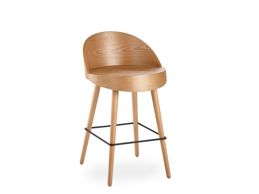 Stool with footrest APSIS BAR | Stool by B&T Design