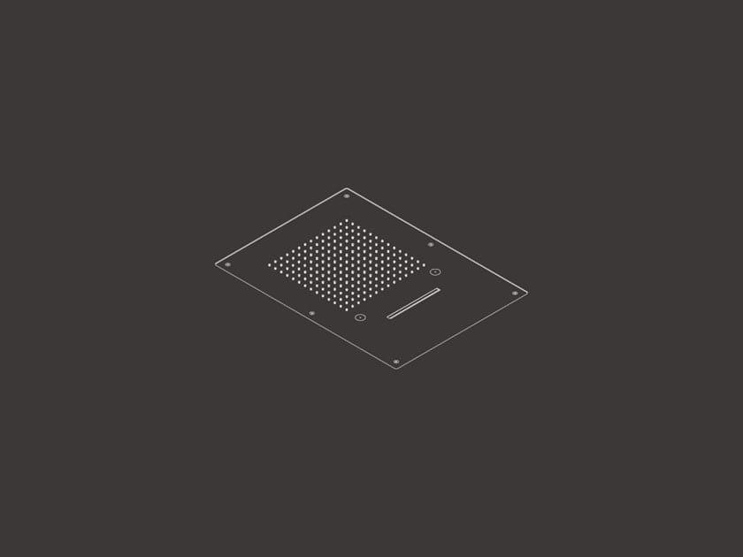 Soffione doccia a soffitto da incasso AQC 08 by Ceadesign