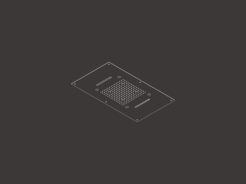 Soffione doccia a soffitto da incasso AQC 10 by Ceadesign