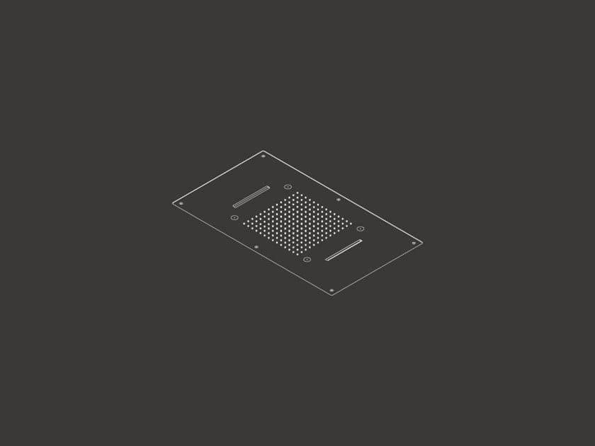 Soffione doccia a soffitto da incasso AQC 11 by Ceadesign