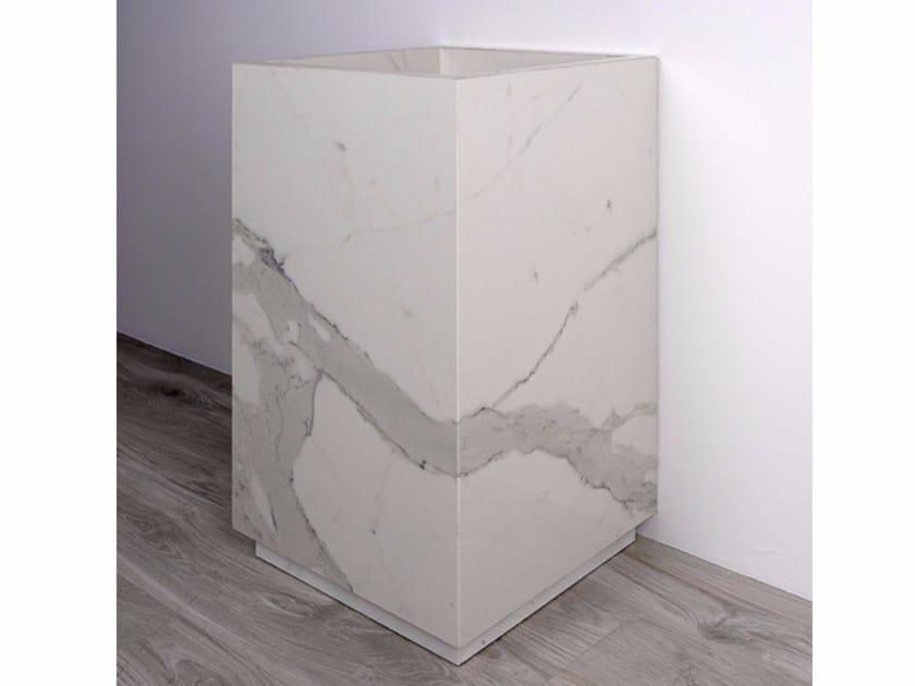 Freestanding porcelain stoneware washbasin AQUA MAXIMUM | Washbasin by GranitiFiandre