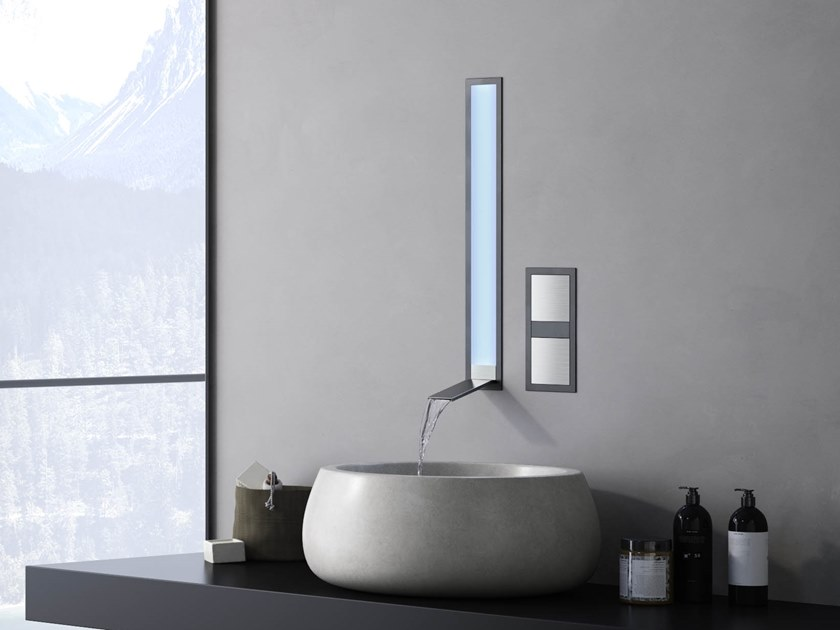 Wall-mounted stainless steel washbasin mixer AQUALITE | Washbasin mixer by newform