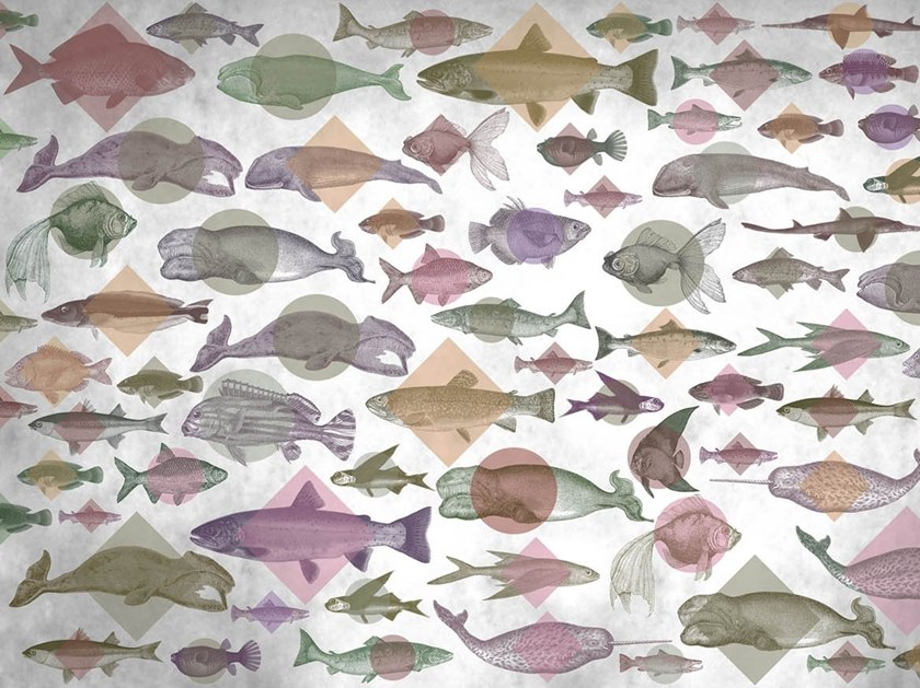 Natural wallpaper, PVC free, eco, washable AQUARIUM by Wallpepper